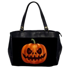 Halloween Pumpkin Office Handbags (2 Sides)  by Valentinaart