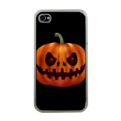 Halloween Pumpkin Apple Iphone 4 Case (clear) by Valentinaart