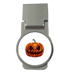 Halloween Pumpkin Money Clips (round)  by Valentinaart