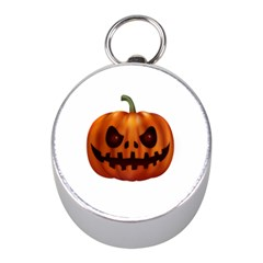 Halloween Pumpkin Mini Silver Compasses