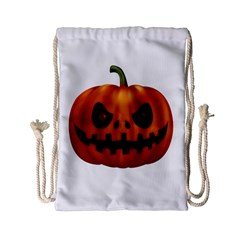 Halloween Pumpkin Drawstring Bag (small) by Valentinaart