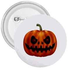 Halloween Pumpkin 3  Buttons by Valentinaart