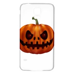 Halloween Pumpkin Samsung Galaxy S5 Back Case (white) by Valentinaart