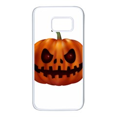 Halloween Pumpkin Samsung Galaxy S7 White Seamless Case by Valentinaart