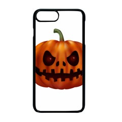 Halloween Pumpkin Apple Iphone 7 Plus Seamless Case (black) by Valentinaart