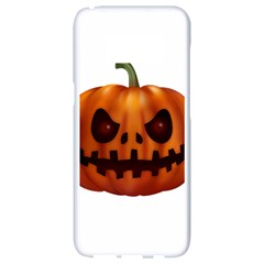 Halloween Pumpkin Samsung Galaxy S8 White Seamless Case by Valentinaart