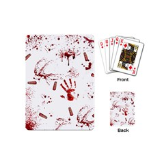 Massacre  Playing Cards (mini)  by Valentinaart