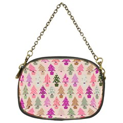 Christmas Tree Pattern Chain Purses (one Side)
