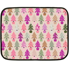 Christmas Tree Pattern Double Sided Fleece Blanket (mini)  by Valentinaart