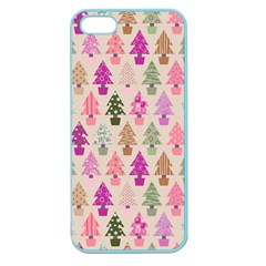 Christmas Tree Pattern Apple Seamless Iphone 5 Case (color)