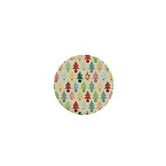 Christmas Tree Pattern 1  Mini Buttons by Valentinaart