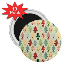 Christmas Tree Pattern 2 25  Magnets (10 Pack)  by Valentinaart
