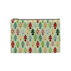 Christmas Tree Pattern Cosmetic Bag (medium)  by Valentinaart