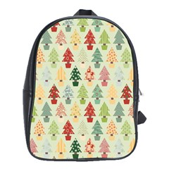 Christmas Tree Pattern School Bag (large) by Valentinaart
