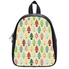 Christmas Tree Pattern School Bag (small) by Valentinaart