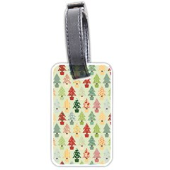 Christmas Tree Pattern Luggage Tags (one Side)  by Valentinaart
