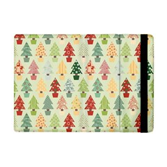 Christmas Tree Pattern Apple Ipad Mini Flip Case by Valentinaart