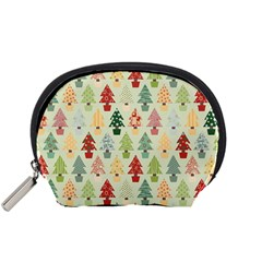 Christmas Tree Pattern Accessory Pouches (small)  by Valentinaart