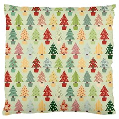 Christmas Tree Pattern Large Flano Cushion Case (one Side) by Valentinaart