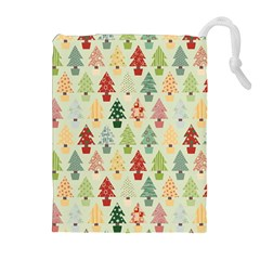 Christmas Tree Pattern Drawstring Pouches (extra Large) by Valentinaart
