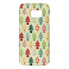 Christmas Tree Pattern Samsung Galaxy S7 Edge Hardshell Case by Valentinaart