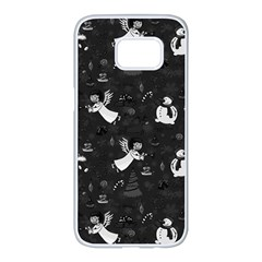 Christmas Pattern Samsung Galaxy S7 Edge White Seamless Case