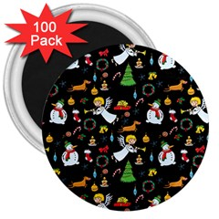 Christmas Pattern 3  Magnets (100 Pack) by Valentinaart