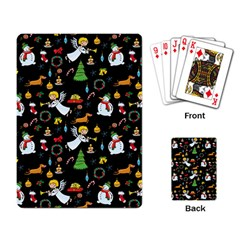 Christmas Pattern Playing Card by Valentinaart