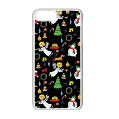 Christmas Pattern Apple Iphone 7 Plus White Seamless Case