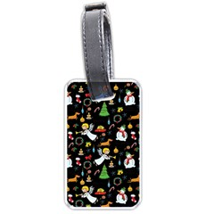 Christmas Pattern Luggage Tags (one Side)  by Valentinaart