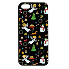 Christmas Pattern Apple Iphone 5 Seamless Case (black)