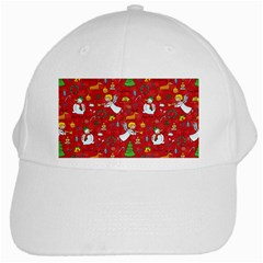 Christmas Pattern White Cap by Valentinaart