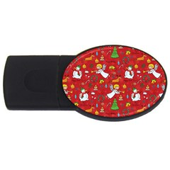 Christmas Pattern Usb Flash Drive Oval (4 Gb)