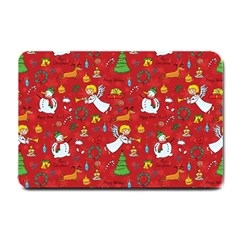 Christmas Pattern Small Doormat  by Valentinaart