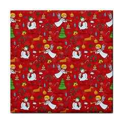 Christmas Pattern Face Towel by Valentinaart