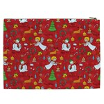 Christmas pattern Cosmetic Bag (XXL)  Back