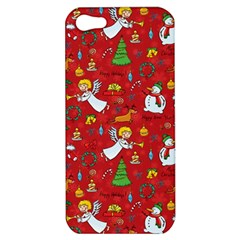 Christmas Pattern Apple Iphone 5 Hardshell Case by Valentinaart