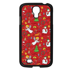 Christmas Pattern Samsung Galaxy S4 I9500/ I9505 Case (black) by Valentinaart