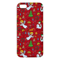 Christmas Pattern Iphone 5s/ Se Premium Hardshell Case by Valentinaart