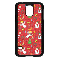 Christmas Pattern Samsung Galaxy S5 Case (black) by Valentinaart