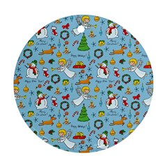 Christmas Pattern Ornament (round) by Valentinaart