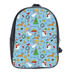 Christmas Pattern School Bag (large) by Valentinaart
