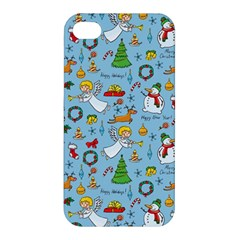 Christmas Pattern Apple Iphone 4/4s Premium Hardshell Case by Valentinaart