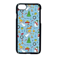 Christmas Pattern Apple Iphone 7 Seamless Case (black) by Valentinaart