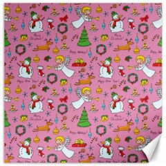 Christmas Pattern Canvas 16  X 16   by Valentinaart