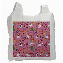 Christmas Pattern Recycle Bag (two Side)  by Valentinaart
