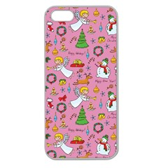 Christmas Pattern Apple Seamless Iphone 5 Case (clear)