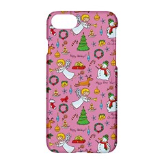 Christmas Pattern Apple Iphone 7 Hardshell Case by Valentinaart
