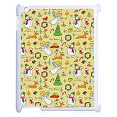 Christmas Pattern Apple Ipad 2 Case (white)