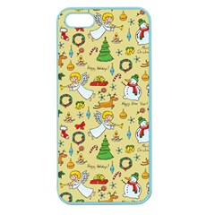 Christmas Pattern Apple Seamless Iphone 5 Case (color) by Valentinaart